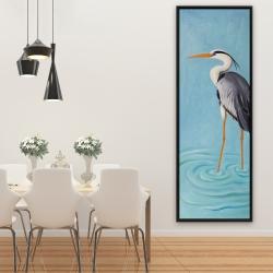 Framed 20 x 60 - Grey heron