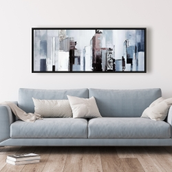 Framed 20 x 60 - Abstract building shapes