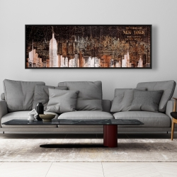 Framed 20 x 60 - The empire city of newyork