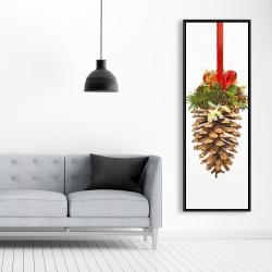 Framed 20 x 60 - Christmas pine cone