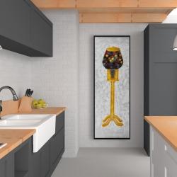 Framed 20 x 60 - Yellow gum dispenser