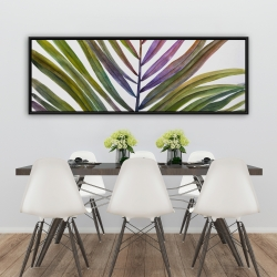 Framed 20 x 60 - Watercolor tropical palm leave