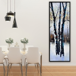 Framed 20 x 60 - Frosted trees