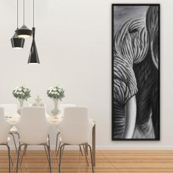 Framed 20 x 60 - Elephant