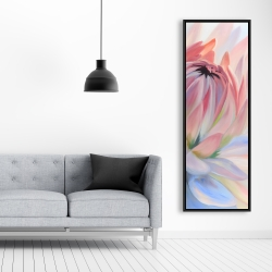 Framed 20 x 60 - Lotus pastel flower