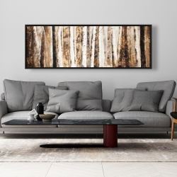 Framed 20 x 60 - Trees of an asbtract forest