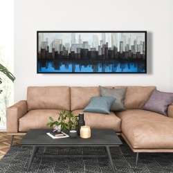 Framed 20 x 60 - View of a blue city