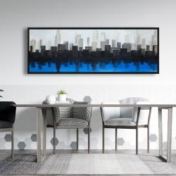 Framed 20 x 60 - Blue city