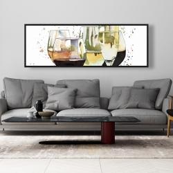 Framed 20 x 60 - Beautiful wine glasses