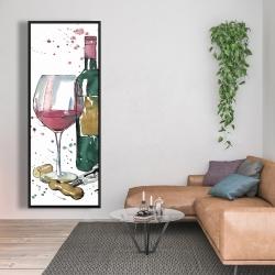 Framed 20 x 60 - Bottle of red wine