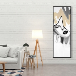 Framed 20 x 60 - Divided woman
