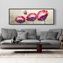 Framed 20 x 60 - Three wild flowers