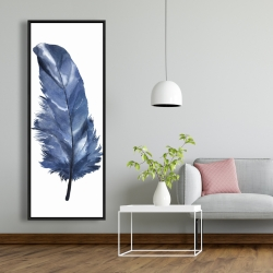 Framed 20 x 60 - Blue feather
