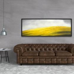 Framed 20 x 60 - Yellow hill