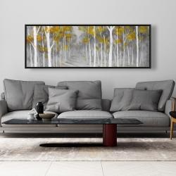 Framed 20 x 60 - Birch forest