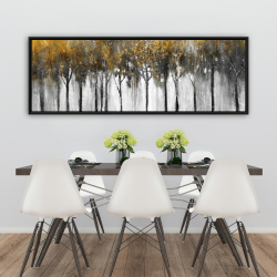 Framed 20 x 60 - Abstract yellow forest
