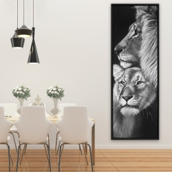 Framed 20 x 60 - Lion and lioness