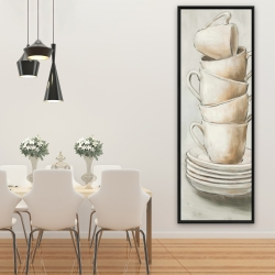 Framed 20 x 60 - Stacked cups