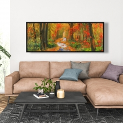 Framed 20 x 60 - Autumn trail