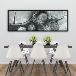 Framed 20 x 60 - Textured wooden logs