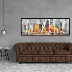 Framed 20 x 60 - Color splash cityscape
