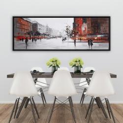 Framed 20 x 60 - Classic street scene