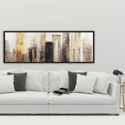 Framed 20 x 60 - Earthy tones city