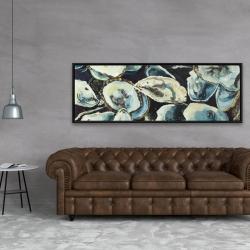 Framed 20 x 60 - Oyster shells