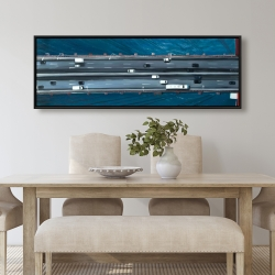 Framed 20 x 60 - Overhead view of traffic on the golden gate