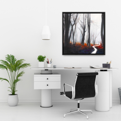 Framed 24 x 24 - Mysterious forest with stream