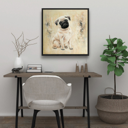 Framed 24 x 24 - Small pug