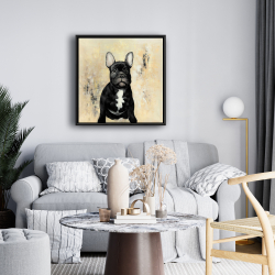Framed 24 x 24 - French bulldog
