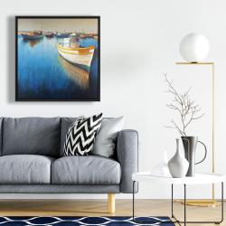 Framed 24 x 24 - Fishing boats at the marina