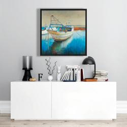 Framed 24 x 24 - Fishing boat
