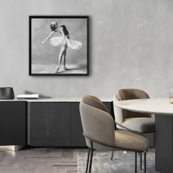 Framed 24 x 24 - Classic ballet dancer