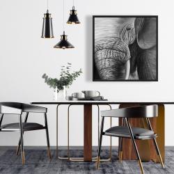 Framed 24 x 24 - Elephant