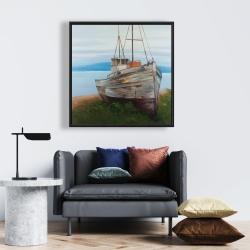 Framed 24 x 24 - Old abandoned boat