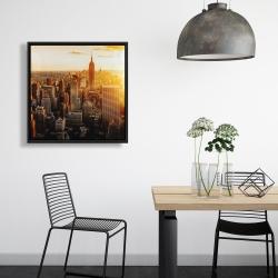 Framed 24 x 24 - New york city at sunset