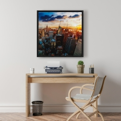 Framed 24 x 24 - City of new york by dawn