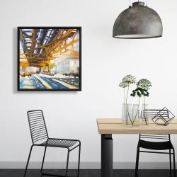Framed 24 x 24 - Trafic under the bridge