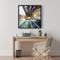 Framed 24 x 24 - Cars under the bridge