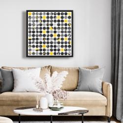 Framed 24 x 24 - Abstract grunge circles