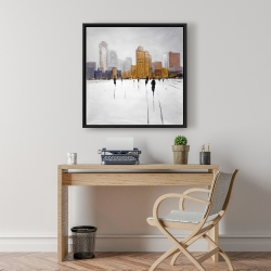 Framed 24 x 24 - City on the horizon