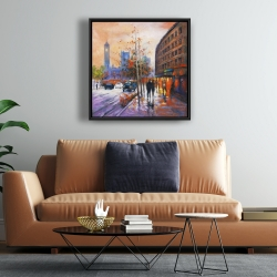 Framed 24 x 24 - City by fall