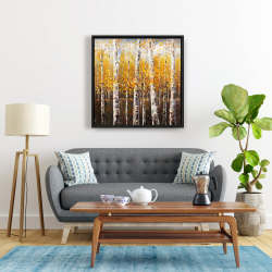 Framed 24 x 24 - Birches by sunny day