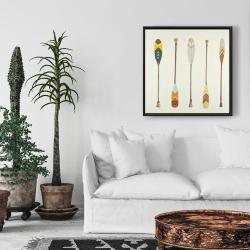 Framed 24 x 24 - Canoe paddles