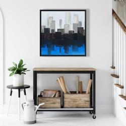 Framed 24 x 24 - Blue city