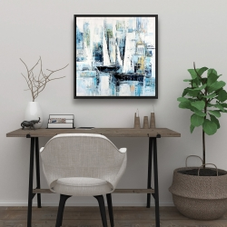 Framed 24 x 24 - Industrial style boats