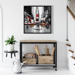 Framed 24 x 24 - New york city busy street