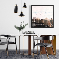 Framed 24 x 24 - Water towers